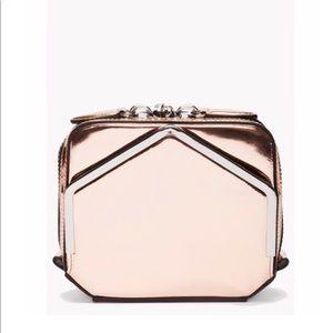 Alexander Wang Metallic bronze envelope box clutch